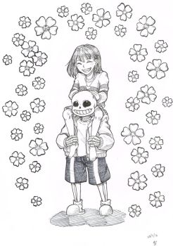 Undertale - Frisk and Sans by wishmakerx