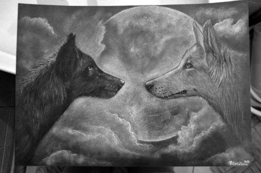 Two wolves by Chrumka02