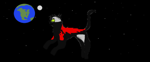 Robo-kitty in SPACE by tigerclaw64