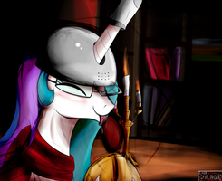 Princess Celestia - Nerdy Fetishist by Dragk