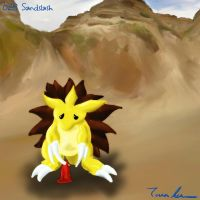 Pokemon Challenge 028-sandslash by midgear