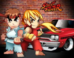 Ryu and Ken - Chibi by lcdesigner