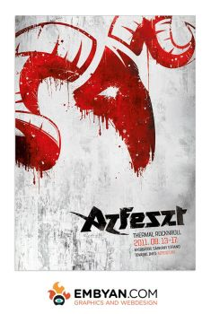 Poster for the music festival Azfest by embyan