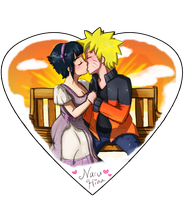 NaruHina - Bench Kiss by TropicalSnowflake