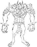 League of Legends - Warwick Digital Sketch by RedCaliburn