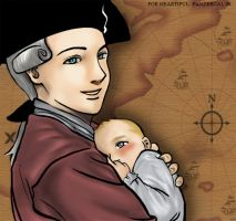 Beckett and daughter by panzergal