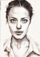 Angelina Jolie 3 by crayon2papier