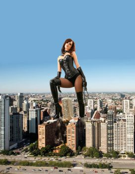Mistress Kitty Lea punishes a city (2/2) by stalker65