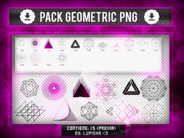 +GEOMETRIC PNG by LupishaGreyDesigns