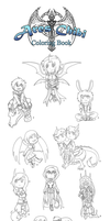 Ares Chibi Coloring book! by Dragonzeek1