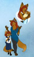 Mother and Daughter by SunetteTheWolf