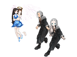Wallmarket Tifa, Sephiroth, Angel Aerith Download by Pucaroo16