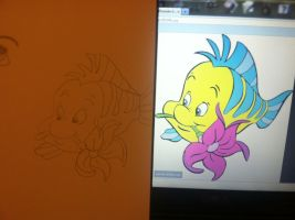 I swear I winged it! - Flounder by WillowTreeWitch
