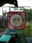 Stained Glass Panel- Depression Glass Plate by rememberthename