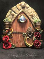 Polymer Clay Rosy Fairy Door-Wishing Well Workshop by missfinearts