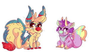 doodle chibis by CrypticInk