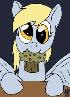 Derpy with Muffin by SMG-73