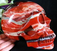 Red Jasper - Quartz Skull 002b by SKULLKRAFT