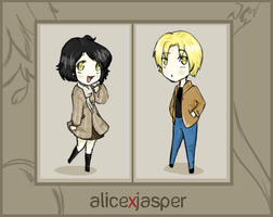 Alice and Jasper Chibi-fied by vanipy05