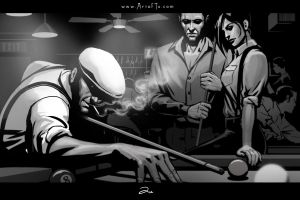 Noir Series: Pool Hall by ArtofTu