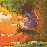 Sasuke on a Swing by jingster