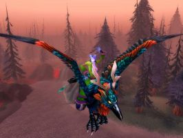 hippogryph dance by WoW-screener