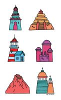 DisneySEA icons by Mr-Bluebird
