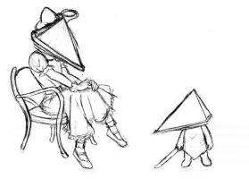 Alternate Pyramid Heads by furikku