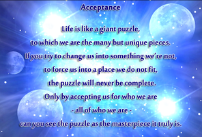 Acceptance... by AngelGhidorah
