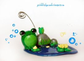 froggie business card holder by quidditchmom