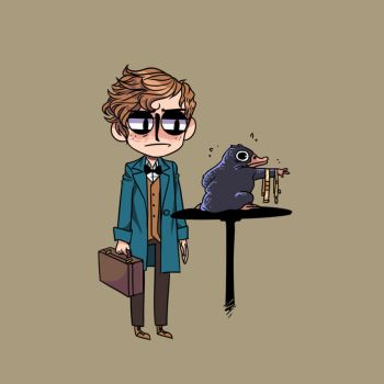 Newt scamander's niffler problem by funeralknell
