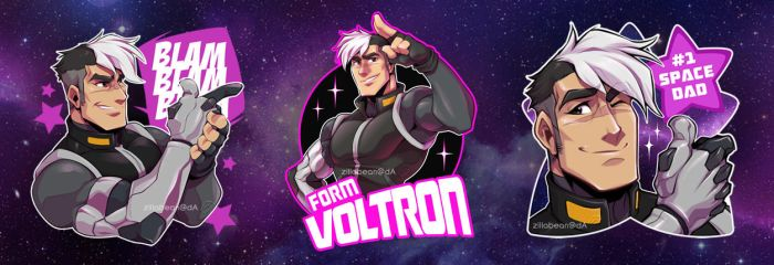 Space Dad Stickers! :D by zillabean