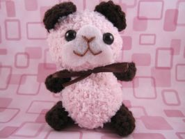 Pink and Brown Guinea Pig by AmiTownCreatures