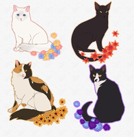 katzen (sticker sets available for 5 USD) by crowguts