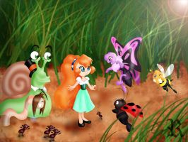 Thumbelina and the critters by rebenke