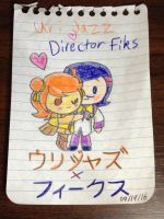 Chibi Kawaii Uri Jazz x Director Fiks Mini Sketch by dannichangirl