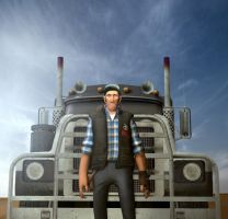 Truckdriver by foreverforum