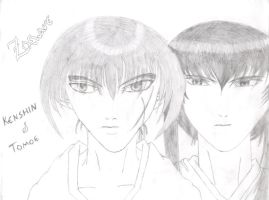 Sketchbook 4 Kenshin and Tomoe by larg-san