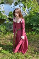 Pink Silk Kirtle by CenturiesSewing