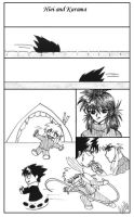Hiei and Kurama: old comic by youkobutt