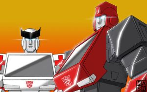 Ironhide and Ratchet by rattrap587