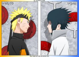 Naruto and Sasuke by SLIPKNOT31666
