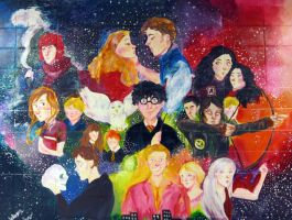 Fictional Characters Mural by pebbled