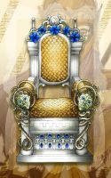 Athena's Throne of Intellect by lordaphaius28