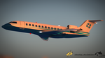 CRJ-700 Regional Airliner Blue Livery by KevHusky