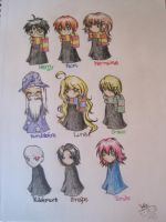 Harry Potter Chibis by muffinwifblueberries