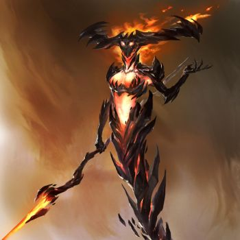 Queen of flames by thiago-almeida