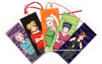 Young Naruto Girls Bookmarks by mausmouse