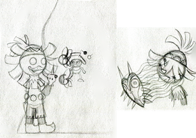 Skull Kid Doodles by PuccaFanGirl