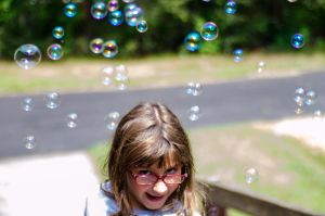 Sarah loves summer and bubbles.. by bmeisenzahl73